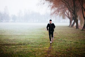 Running during foggy weather