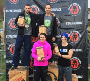 NJ Spartan Race Ultra Beast Podium