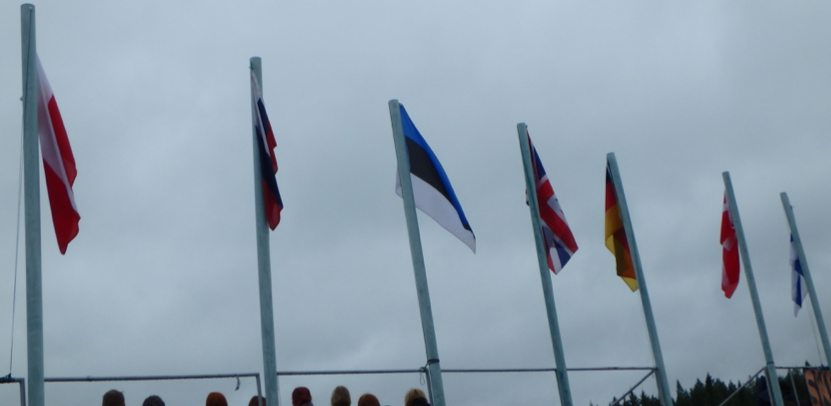 Flags of the participating countries at the 2016 Swamp Soccer World Championship