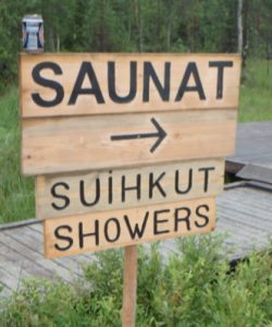 It's not a true Finnish event without a sauna.